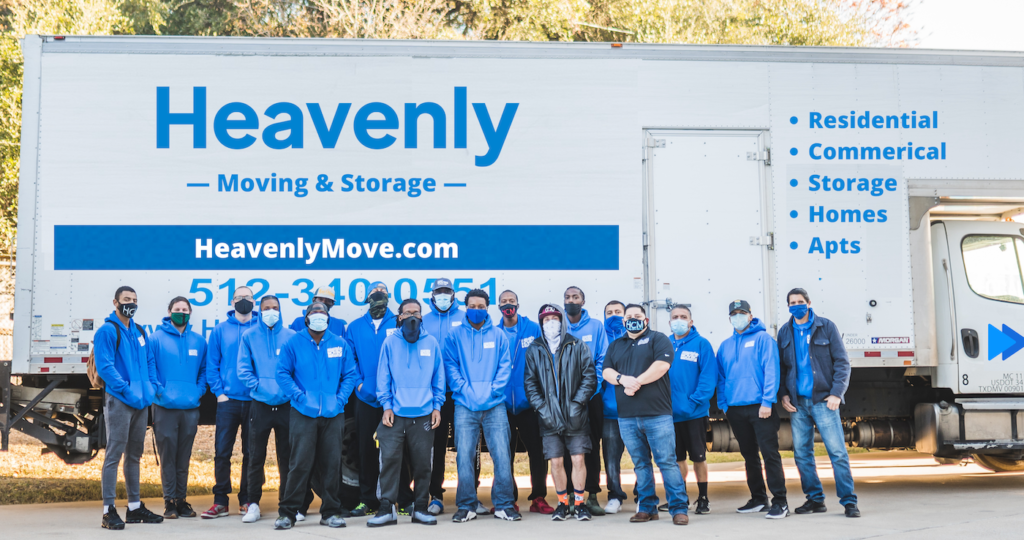 movers in front of the truck