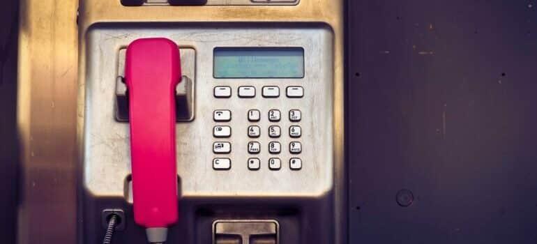 A pay phone.