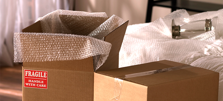 cardboard boxes and wraps