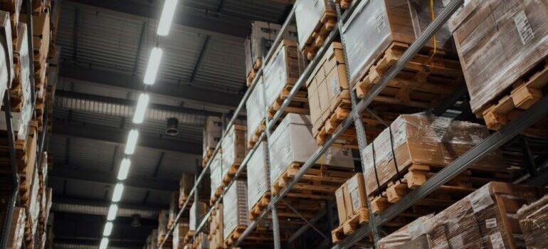 a secure storage unit with shelves